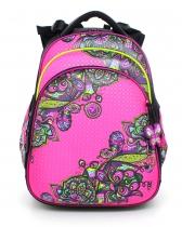 Школьный рюкзак для девочки с ортопедической спинкой Hummingbird Teens T56 Flower