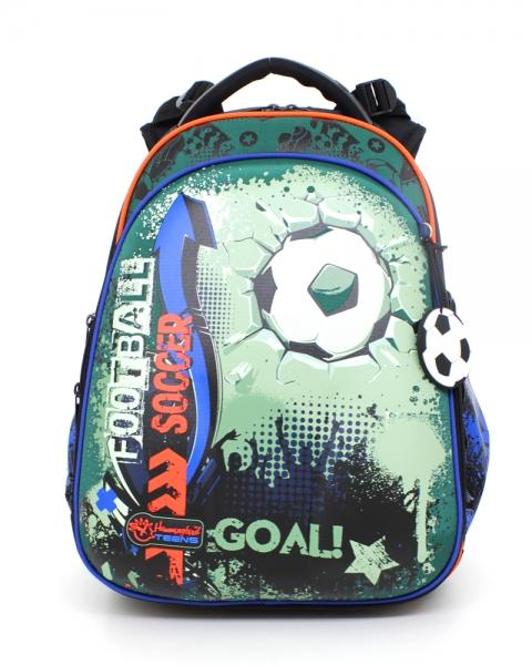 bb32b3de5f44 Школьный рюкзак для мальчика с ортопедической спинкой Hummingbird Teens T61  Football