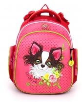 Ранец рюкзак для дошкольника и первоклассника с ортопедической спинкой Hummingbird Kids TK3 Chi Chi Pet 2016