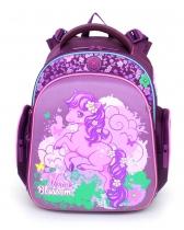 Ранец рюкзак для дошкольника и первоклассника с ортопедической спинкой Hummingbird Kids TK5 Horse Blossom 2016
