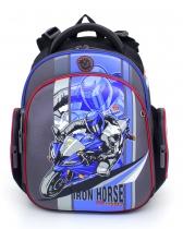Ранец рюкзак для дошкольника и первоклассника с ортопедической спинкой Hummingbird Kids TK6 Iron Horse 2016