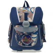 Ранец для первоклассника с ортопедической спинкой CM (dark blue)