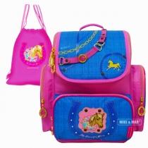 Школьный ранец для девочки с ортопедической спинкой Mike-Mar horse