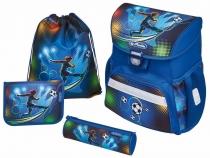 Школьный ранец с ортопедической спинкой Herlitz Loop Soccer с наполнением