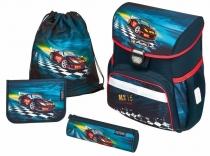 Школьный ранец с ортопедической спинкой Herlitz Loop Super Racer с наполнением