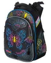 Школьный рюкзак для девочки с ортопедической спинкой Hummingbird Teens T91 Neon Butterfly